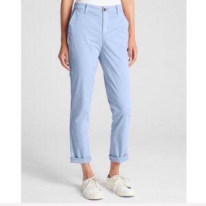 Gap Girlfriend Chinos Moonstone Blue Pants NWT